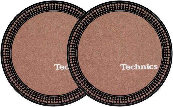 2x Slipmats - Technics Strobe - Brown_1