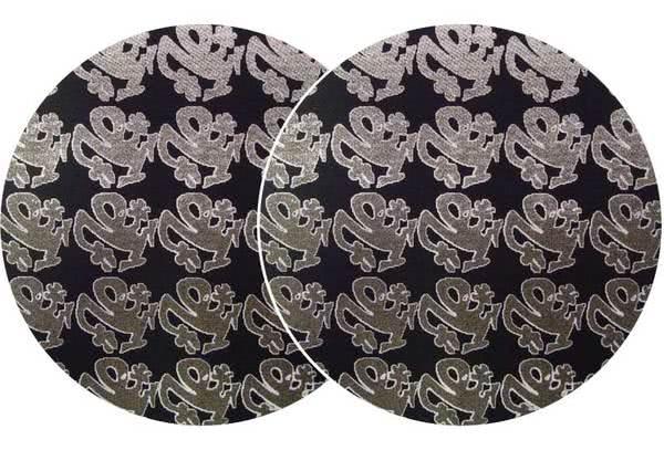 2x Slipmats - Plasticman - black - Logo metallic_1