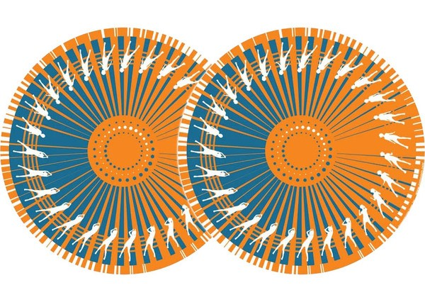 2x Zomo Slipmats - Dance - orange_1