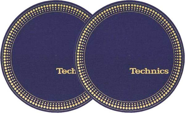 2x Slipmats - Technics Strobe - Blue_1