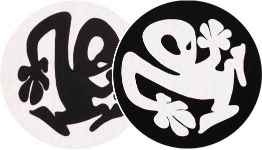 2x Slipmats - Plasticman - Black & White_1
