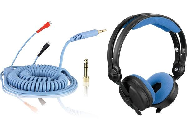 Bundle: HD 25 Kabel DeLuxe 3,5 m + Polsterset Velour - sky_1