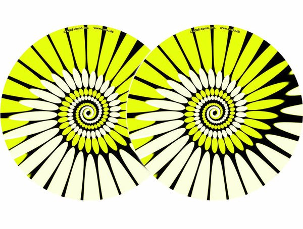 2x Zomo Slipmats - Paint - gelb_1