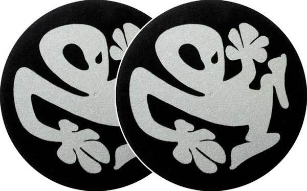 2x Slipmats - Plasticman - schwarz/silber_1