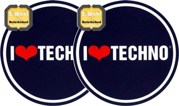 2x Slipmats - I Love Techno - B-Stock_1