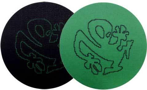 2x Slipmats - Plasticman Silhouette - Green & Black_1