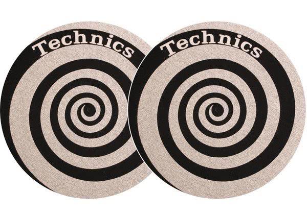 2x Slipmats - Technics Spiral - silber_1