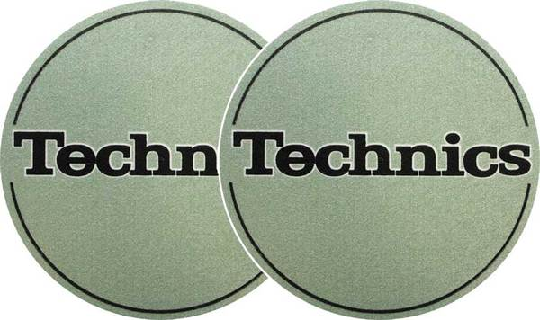 2x Slipmats - Technics Logo - Metallic Green_1