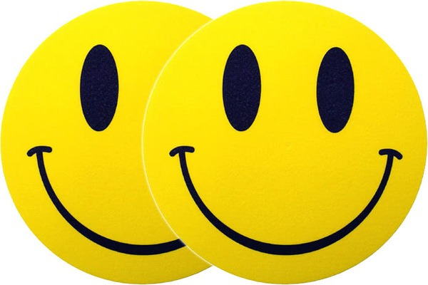 2x Slipmats - Smiley_1