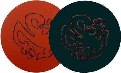 2x Slipmats - Plasticman Silhouette - Red & Black_1