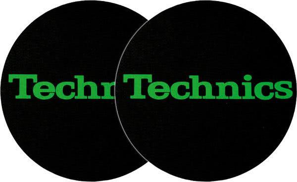 2x Slipmats - Technics Logo - grün_1