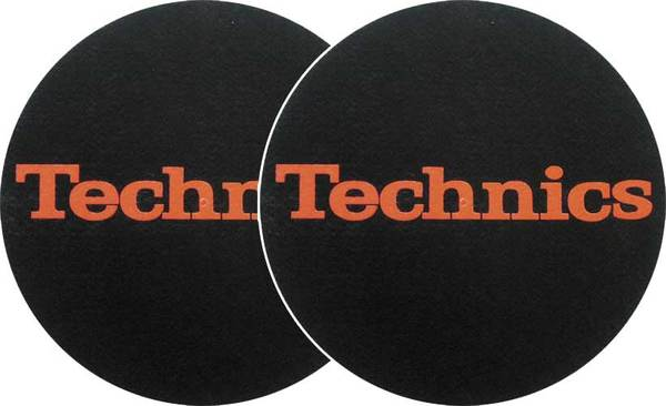 2x Slipmats - Technics Logo - Rot_1