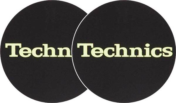 2x Slipmats - Technics Logo Glow Yellow_1