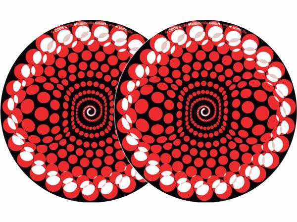 2x Zomo Slipmats - Balls - rot_1