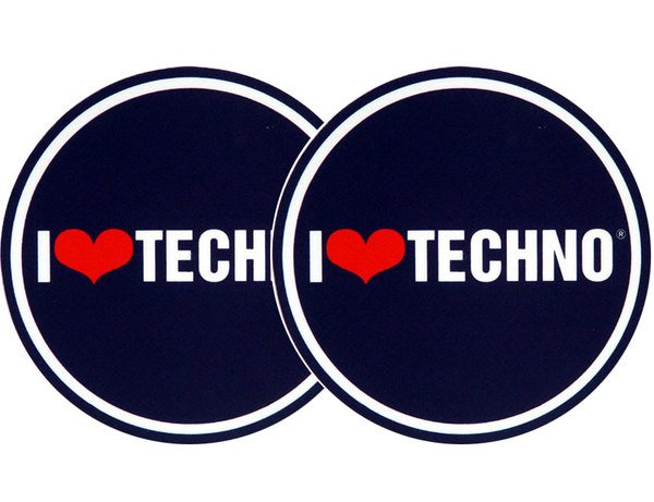 2x Slipmats - I love Techno_1