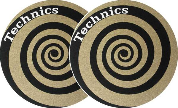2x Slipmats - Technics Spiral - Gold_1
