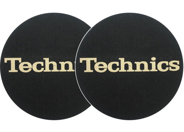 2x Slipmats - Technics Logo - gold_1