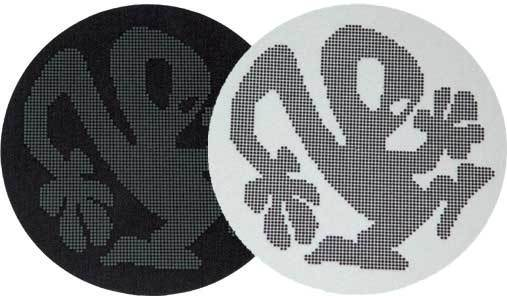 2x Slipmats - Plasticman Dots - Black & White_1