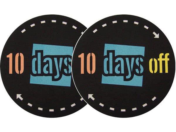 2x Slipmats - 10 Days Off_1
