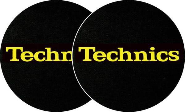 2x Slipmats - Technics Logo - gelb_1