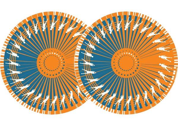 2x Zomo Slipmats - Dance - orange_1