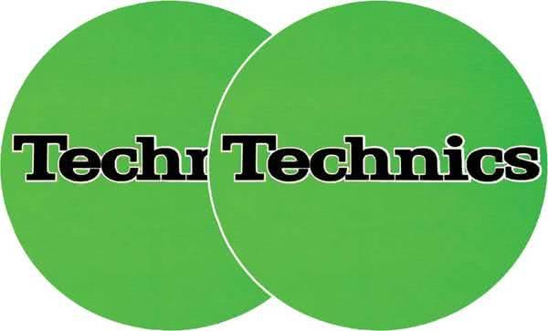2x Slipmats - Technics - Grün_1